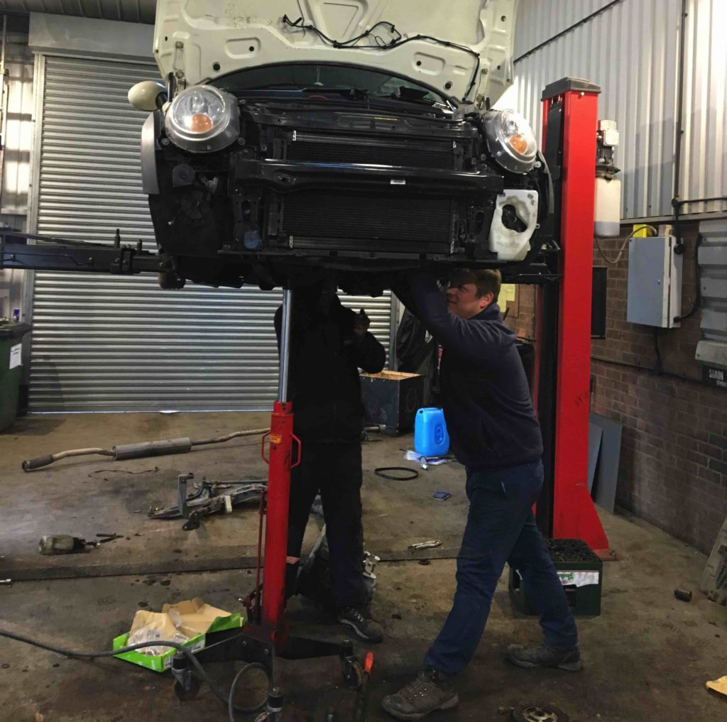 Mechanical Work being completed at Michael Wicks garage
