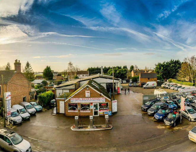 Aerial View of Michael Wicks Garage
